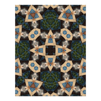 Mehrfarbiges abstraktes Muster Flyerbedruckung