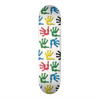 Mehrfarbiges handprints Muster Personalisierte Skateboarddecks