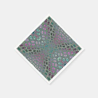 Mehrfarbiges Hologramm-Schmetterlings-Fraktal Papierserviette