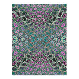 Mehrfarbiges Hologramm-Schmetterlings-Fraktal Postkarte