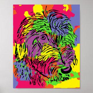Mehrfarbiges Hundeplakat Poster