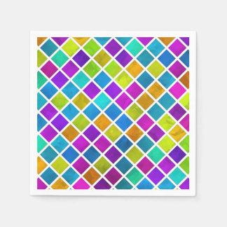 Mehrfarbiges Juwel-Mosaik Papierservietten