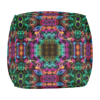 Mehrfarbiges Kaleidoskop Hocker