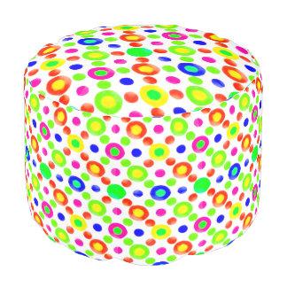 Mehrfarbiges Kreis-Motiv-Muster Hocker