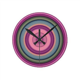 Mehrfarbiges Kreis-Muster Runde Wanduhr