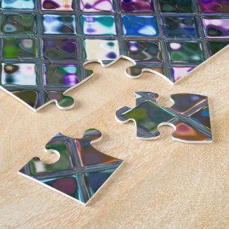Mehrfarbiges Puzzlespiel mit 2 Drucken der Puzzle