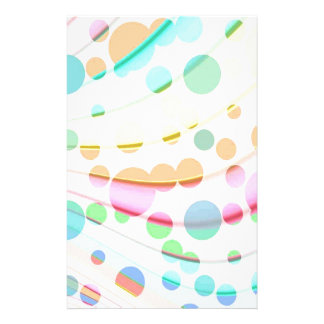 Mehrfarbiges Regenbogenmuster mit klaren Blasen Büropapier