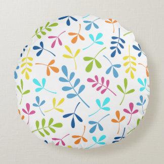 Mehrfarbiges sortiertes Blätter-Muster Rundes Kissen
