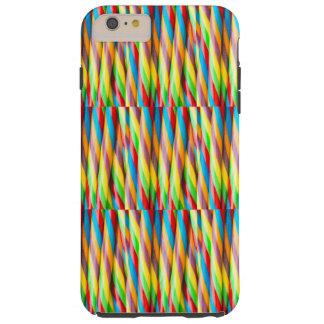 Mehrfarbiges Streifen-Muster Tough iPhone 6 Plus Hülle