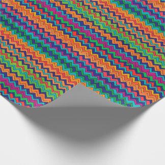 Mehrfarbiges Zickzack Muster Geschenkpapier