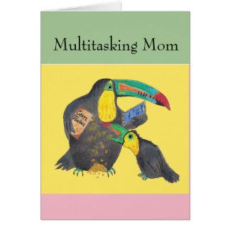 Mehrprozeßmamma - lustige Karte mit toucans