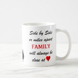 Meilen auseinander aber nahes am Herzen Kaffeetasse