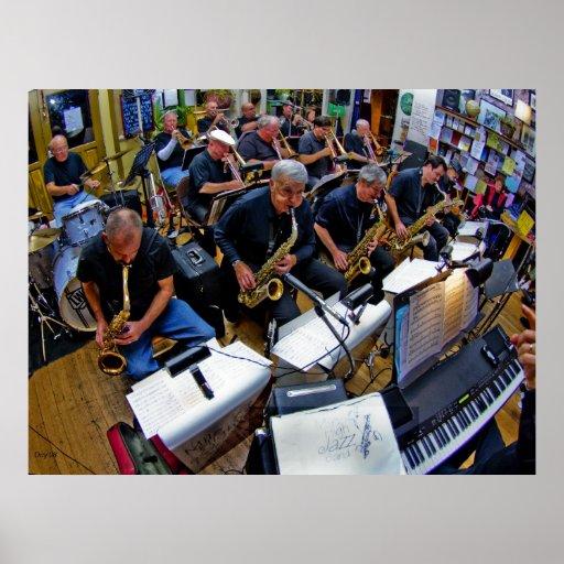 Meilen-hohe Jazz-Band #16 Posterdruck
