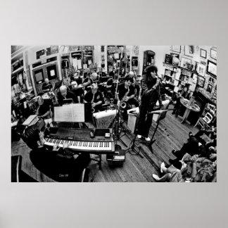 Meilen-hohe Jazz-Band, Komma-Kaffee Posterdruck