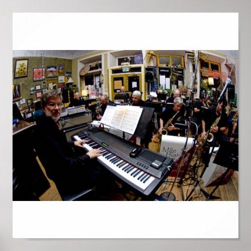 Meilen-hohe Jazz-Band Posterdrucke