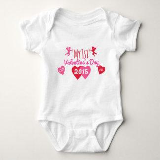 Mein 1. Valentinstag Baby Strampler