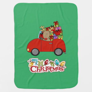 Mein 1. Weihnachten, das Ren fährt Puckdecke