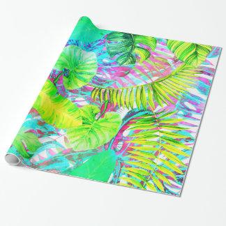 Mein abstrakter bunter aloha Laubgarten Geschenkpapier