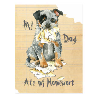 Mein ACD aß meine Hausaufgaben Postkarte