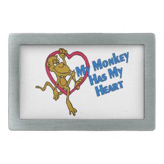 Mein Affe hat mein Herz Rechteckige Gürtelschnalle