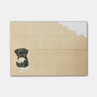 Mein Affenpinscher aß meine Hausaufgaben Post-it Klebezettel