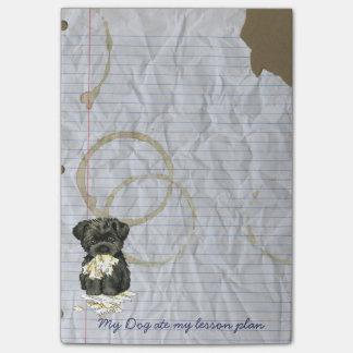 Mein Affenpinscher aß meinen Unterrichtsplan Post-it Klebezettel