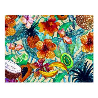 Mein Aloha tropische Frucht-und Postkarte