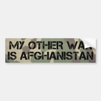 Mein anderer Krieg ist Afghanistan-Autoaufkleber