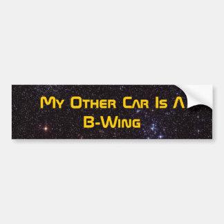 Mein anderes Auto ist ein B-Flügel Autoaufkleber