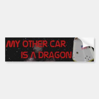 Mein anderes Auto ist ein Drache Autoaufkleber