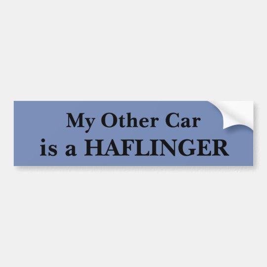 Mein anderes Auto ist ein Haflinger Autoaufkleber