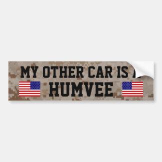 Mein anderes Auto ist ein Humvee (HMMWV) Autoaufkleber