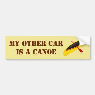 Mein anderes Auto ist ein Kanu Autoaufkleber