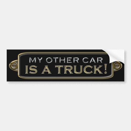 Mein anderes Auto ist ein LKW-Autoaufkleber