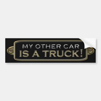 Mein anderes Auto ist ein LKW-Autoaufkleber Autoaufkleber