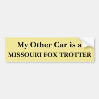 Mein anderes Auto ist ein Missourifox-Huf Autoaufkleber