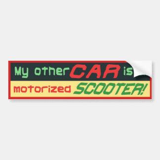 Mein anderes Auto ist ein motorisierter ROLLER! Autoaufkleber