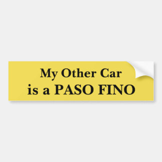 Mein anderes Auto ist ein Paso Fino Autoaufkleber