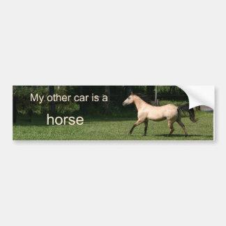 Mein anderes Auto ist ein Pferd Auto Aufkleber