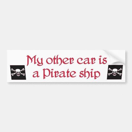 mein anderes Auto ist ein Piratenschiffs-Autoaufkl Autosticker