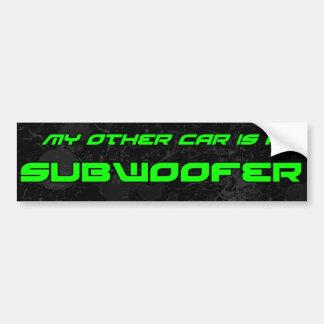 Mein anderes Auto ist ein Subwoofer Autoaufkleber