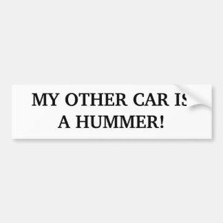 MEIN ANDERES AUTO IST HUMMER! AUTOAUFKLEBER