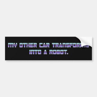MEIN ANDERES AUTO WANDELT IN einen ROBOTER - lila  Auto Aufkleber