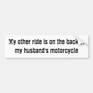 Mein anderes Fahrt… hinter vom Motorrad meines Autoaufkleber