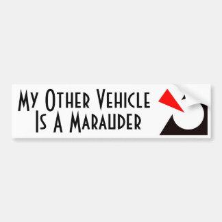 Mein anderes Fahrzeug ist ein Plünderer Autoaufkleber