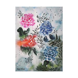 Mein angemessener RosenWatercolor Leinwanddruck