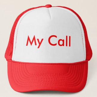 Mein Anruf im Rot Truckerkappe