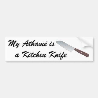 Mein Athamé ist ein Küchen-Messer Autoaufkleber