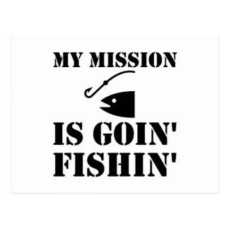 Mein Auftrag-Fischen Postkarte
