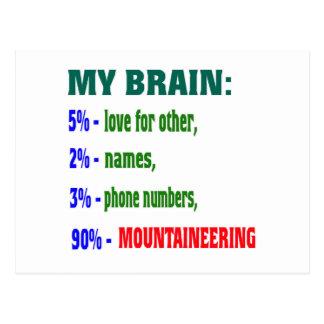 Mein Bergsteigen des Gehirn-90% Postkarte